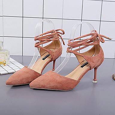 Puntiagudo Stiletto Tacón Noche el Beige y 06830899 en Dedo Mujer Negro Tira Verano Rosa PU Tacones Tobillo Zapatos Fiesta 4Bqz8PqR