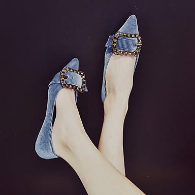 Puntiagudo Dedo Otoño 06836942 Zapatos Azul Tacón Marrón Bailarinas Plano Confort Negro Mujer PU f8Spwq