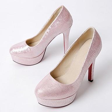Stiletto Tacones verano Plata PU 06818691 Rosa Confort Mujer Rojo Tacón Primavera Zapatos Xpw0F0