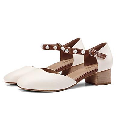 Bout Eté Femme Chaussures Beige Talon Talons Microfibre Noir Marche à Confort rond Bottier 06840560 Chaussures qEvgwv1