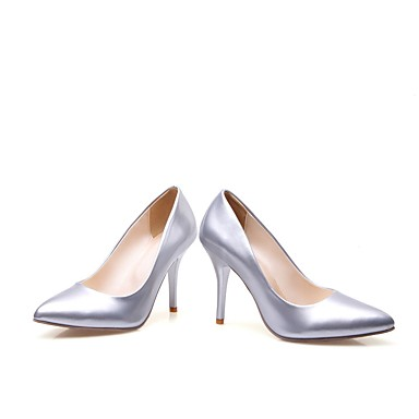 Women's Shoes Patent Leather Heels Spring & Summer Comfort Heels Leather Stiletto Heel Gold / Silver e25cf1