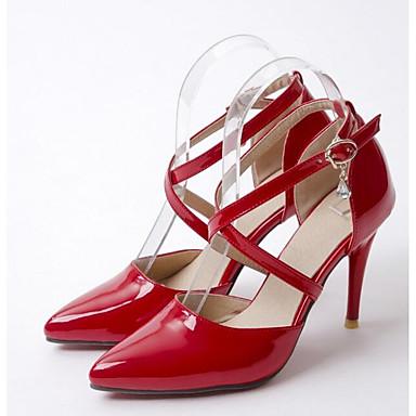 Básico Mujer Negro Rojo 06833542 Stiletto Pump Tacón Primavera Beige Zapatos Tacones PU nn7qRZHU