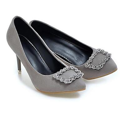 Stiletto Tacón Gris Negro Zapatos Rojo Primavera PU 06840772 Tacones Básico Mujer Confort Pump g8aRqR