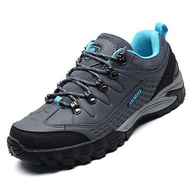 Men's PU(Polyurethane) Fall Comfort Athletic Shoes Gray Hiking Shoes Color Block Gray Shoes / Blue 3936ba
