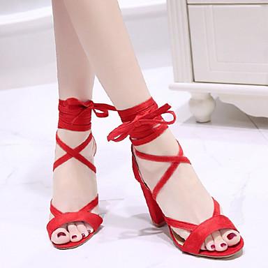 Bottier Daim Rouge Bout ouvert Bride Talon Printemps été Marron Rose Chaussures Femme 06827759 Sandales Cheville de qOA5zxRw