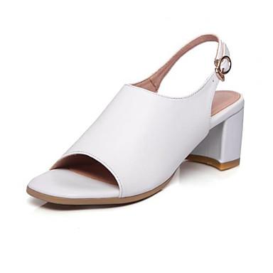 Chaussures été Bottier Blanc Bride Femme Boucle Cuir Bout 06783153 Arrière Printemps Nappa ouvert Noir Sandales Talon A dIRnwS