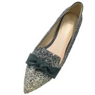 synthétique Plat 06791749 Chaussures Argent Noir Ballerines Matière Printemps Talon Femme Confort gR1Ewq