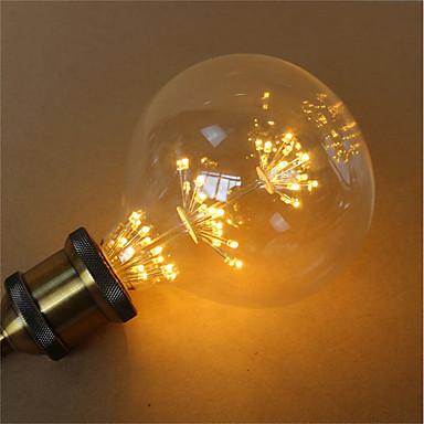 1pc 3 W 300 lm E26 / E27 LED filament žarulje G125 45 LED zrnca SMD Ukrasno / zvjezdani Toplo žuto 85-265 V / RoHs