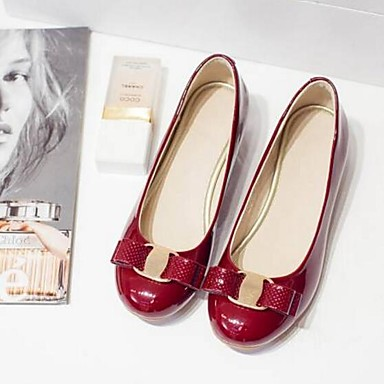 Women's Shoes Patent Leather Spring & Summer Summer Summer Comfort / Slingback Flats Low Heel Closed Toe Black / Red / Wine f448e7