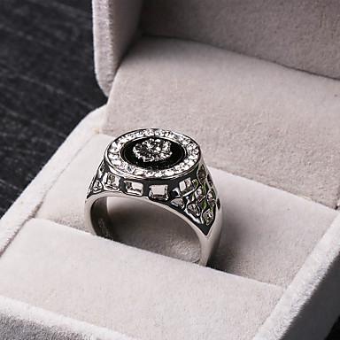 Herrn Statement-Ring - Strass, Aleación Löwe, Tier Personalisiert, Luxus 8 / 9 / 10 Silber / Golden Für Party / Geschenk / Alltag