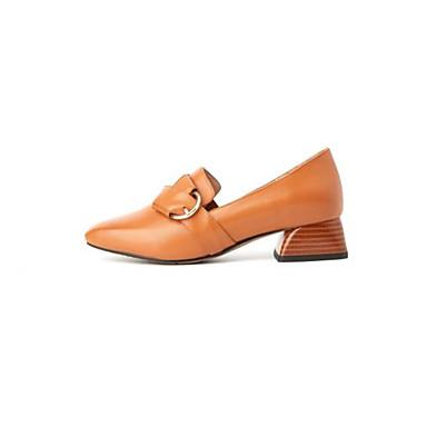 Escarpin Plat Confort Nappa Noir Chaussures Bout carré à Cuir Femme 06827719 claire Chaussures Printemps Talon Basique Marche Brun Talons wq7XwEIR