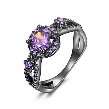Χαμηλού Κόστους Μοδάτο Δαχτυλίδι-Γυναικεία Cubic Zirconia Αμέθυστος Συνθετικό Opal Κοίλο προσομοίωση 3 πέτρα Δακτύλιος Δήλωσης Δαχτυλίδι Αρραβώνων Χαλκός Επιχρυσωμένο κυρίες Μοναδικό Aristocrat Lolita Rococo Μοδάτο Δαχτυλίδι
