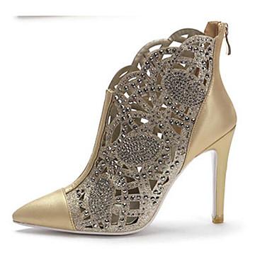 Or Aiguille Bottes la Femme Talon 06833035 à Nappa Argent Confort Mode Chaussures Bottes Printemps Cuir Automne waOqB7