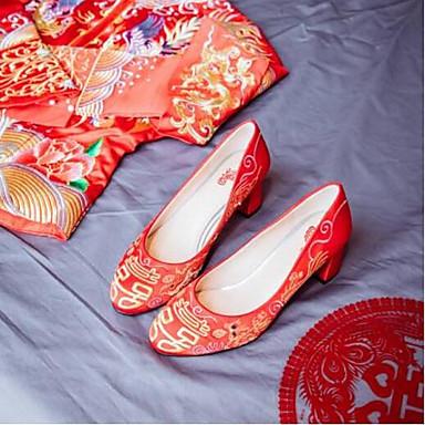326f5962e6f73 Automne Escarpin Basique Chaussures Rouge Femme Talon mariage de été  Printemps Bout Chaussures 06790826 Satin Mariage ...