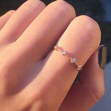 Žene Kristal Kubični Zirconia Skulptura Prstenasti prsten - Legura Cvijet Korejski, Moda Zlato / Pink Za Dar Dnevno