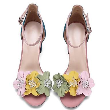 Daim Confort à de mouton Chaussures Rose Bottier 06840043 Eté Chaussures Peau Talons Femme Talon xwYH5AqA