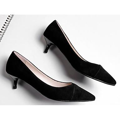 Talons Bourgogne Chaussures Talon Femme 06796573 Escarpin mouton Basique Printemps Noir Chaussures à Confort de Peau Automne Aiguille zzwZqPT