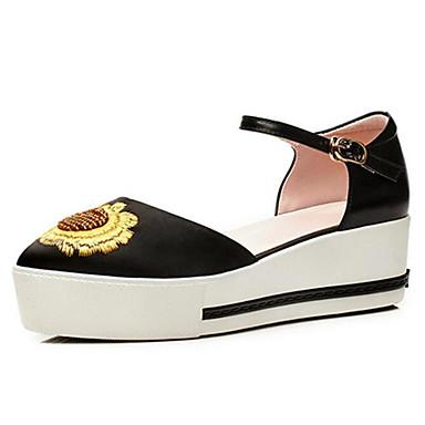 Automne Chaussures à Chaussures Printemps Talons Cuir 06797437 Confort Amande Femme Creepers Nappa Noir qwOIAxYI0