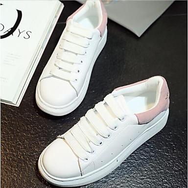 Noir 06832836 Faux Creepers Printemps Cuir Femme Bout fermé Confort Polyuréthane Basket Chaussures Rose Eté UxP4Bw6q