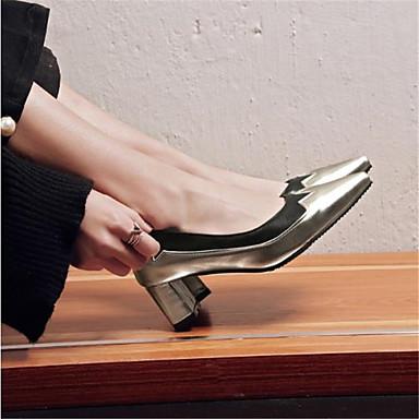 Polyuréthane Printemps Chaussures Or été Bout Bottier pointu Talons 06793112 à Femme Escarpin Talon Chaussures Argent Basique 5qBRHS