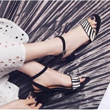 Basique Bottier Talon de Chaussures 06792393 Sandales Eté Escarpin Crin Noir Cheval Femme Confort x1q0vpBww