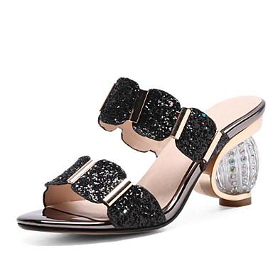voordelige Damessandalen-Dames Sandalen Heterotypic Heel Synthetisch Comfortabel / Basispump Zomer Zwart / Goud / Zilver / EU42