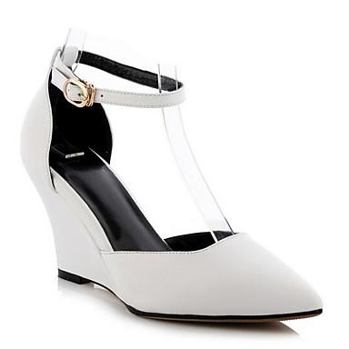 06838051 Noir de Cuir Eté Chaussures à Rose Chaussures compensée Confort Nappa semelle Jaune Talons Hauteur Femme q7Z5twxx