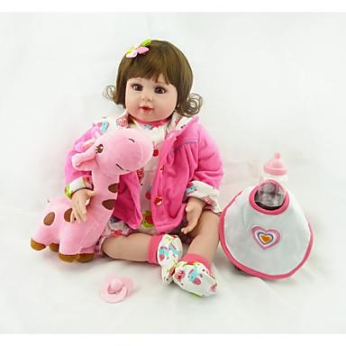 NPKCOLLECTION MUÑECA NPK Muñecas reborn Muñeca chica Bebés Niñas 24 pulgada Regalo Música Artificial Implantation Brown Eyes Kid de Chica Juguet Regalo