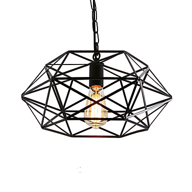 lighting fixtures for bedrooms vintage black metal cage loft pendant lights living room 15874