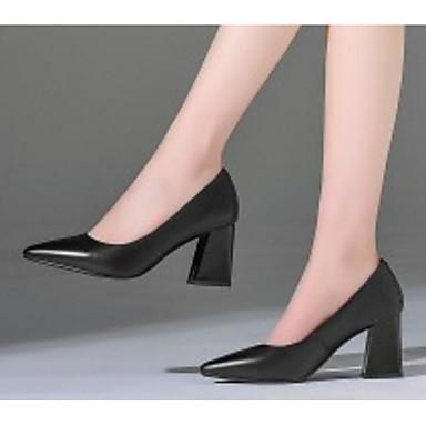 06776499 Nappa Chaussures à Printemps Chaussures Femme Bottier Noir Talon Cuir Confort Talons 1xw6qHfP