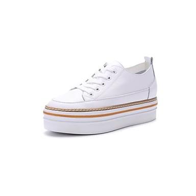 Chaussures Cuir Plat Basket Printemps Noir 06785650 Talon Nappa Automne Femme Confort rond Bout Blanc BAd4qwA