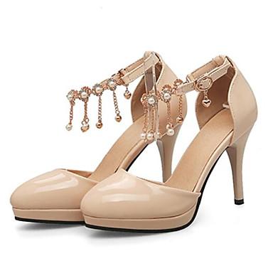 PU Beige Negro Confort 06797482 Stiletto Zapatos Mujer Rojo Primavera Tacón Tacones awCp5x8q