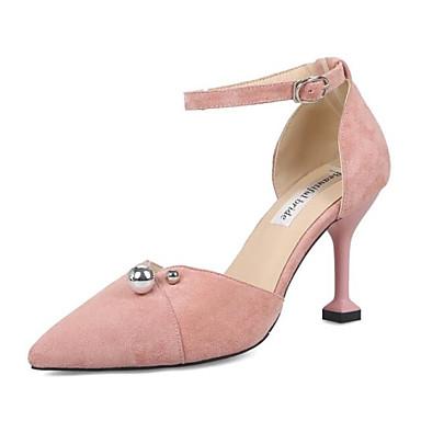 Mujer Zapatos Rosa Tacón Tacones Verano Ante Stiletto 06833223 Confort pBnqwrpU7