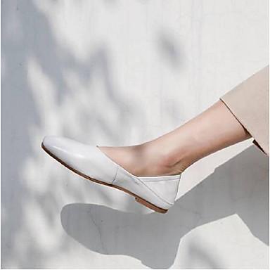 Chaussures Noir Confort Cuir Ballerines Printemps 06796482 Talon Blanc Plat Femme été Nappa wfAwqZ
