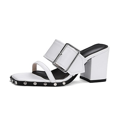 Talon Printemps Sandales Femme Noir Nappa Confort Chaussures été Bottier 06833074 Cuir Blanc xAwqSqHn6f