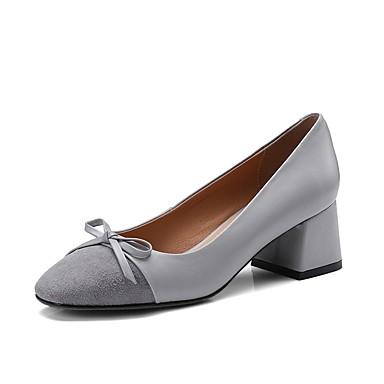 Cuir à Vin Confort été 06817185 Printemps Gris Femme Nappa Bottier Chaussures Talons Chaussures Amande Talon pwqFBB