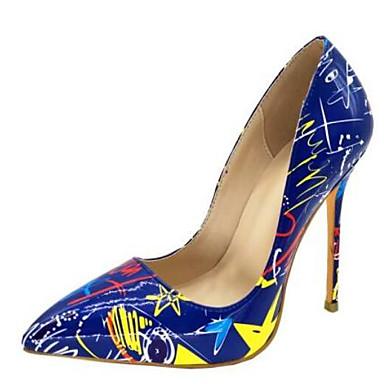 6000ce1040f9a à Bleu Verni Chaussures 06778375 Talons Chaussures Aiguille Femme Hiver  Talon Confort Cuir Blanc wSqx1YSOP ...