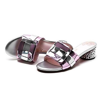 Bottier Eté Cuir 06797573 Femme Confort Talon Bleu Chaussures Rose Verni Sandales TFBw0x