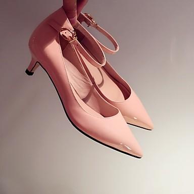 Verni Chaussures Amande Talon Aiguille 06834812 Eté Escarpin Rose Chaussures Cuir à Femme Talons Basique Noir xagqwYqE