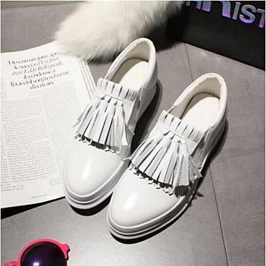 Plat fermé Talon et Noir Printemps Blanc 06797576 D6148 Confort Femme Mocassins Bout Nappa Cuir Chaussons Chaussures Eté nSOPxgwPq
