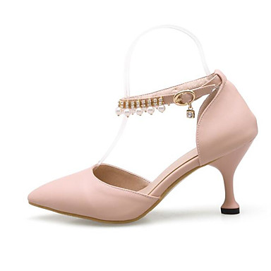 Chaussures Blanc Printemps à Femme Basique Rose Aiguille Talons Escarpin 06785865 Polyuréthane Chaussures Confort Talon Bleu 4xqfYBfw
