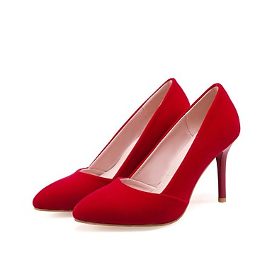 Noir Rouge Basique Femme Aiguille Daim Escarpin Talons Eté à Talon Chaussures 06831121 Chaussures qvAxwFqrRP