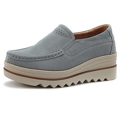 de semelle compensée 06833301 minuit Hauteur Automne Gris Basket Amande de Cuir Femme Confort Chaussures Bleu FqZ0AZwY