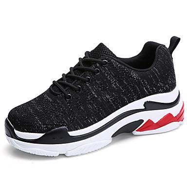 06833438 Automne Tissu Course Confort Plat Femme d'Athlétisme à Pied Blanc Noir Chaussures Chaussures Rouge hiver Talon élastique tH5aq