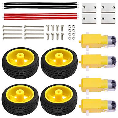 voordelige Elektrische apparatuur & benodigdheden-keyestudio smart car motor wielstel / tt motorwiel, montage, schroef