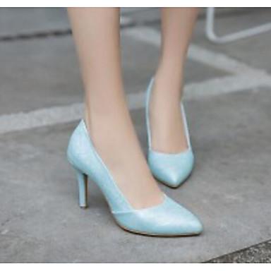 Polyuréthane Talon à Bleu Femme clair Aiguille Rose 06792570 Blanc Chaussures Basique Escarpin Talons Chaussures Automne Confort 5x440wzHq
