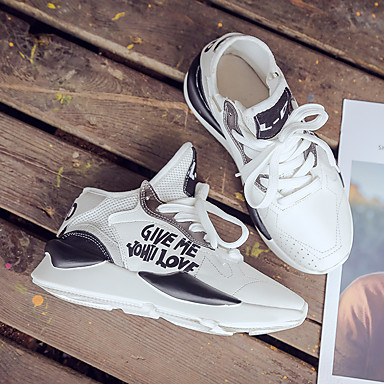 Chaussures Marche rond 06832391 Polyuréthane Chaussures Femme d'Athlétisme Jaune Confort Plat Talon été Printemps Bout Noir nxXBqwSqR