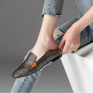 Chaussures de Femme claire Chaussons Noir Printemps D6148 Talon Bas 06776249 et mouton Brun Peau Confort Mocassins REqnqd6