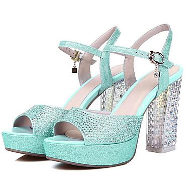 Matière Printemps Sandales Bottier Femme synthétique Talon Chaussures Bleu 06800053 Confort 5qwHnRpP