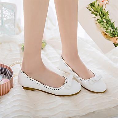 dragée Femme été Bout 06833401 Ballerines Plat Confort Polyuréthane Chaussures Rose Blanc Printemps rond Beige Talon clair OBxqOUrw